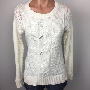 Roxy | Cable Knit Sweater | White | Medium